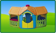 Kunststof speelhuisjes