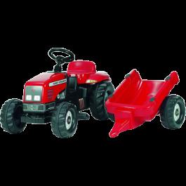 Rolly Toys - rollyKid Massey Ferguson met aanhanger