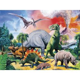 Ravensburger Kinderpuzzel - Tussen de dinosauriers (100XXL)