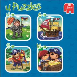 Kinderpuzzel - Stoere jongens (4+6+9+16)