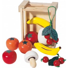 Pinolino - Kratje gevuld met Houten Fruit