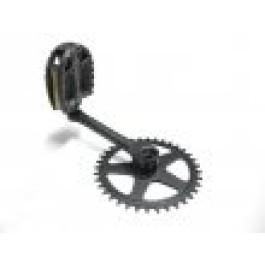 Crank R, 140x36-T, + Pedaal