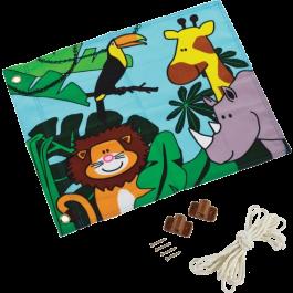 Vlag met hijssysteem Jungle