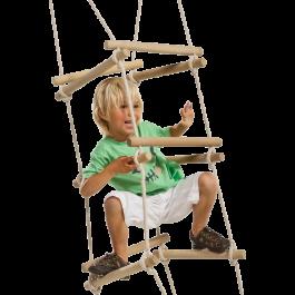 KBT - Touwladder 4-zijden met Hardhouten sporten en PH touw