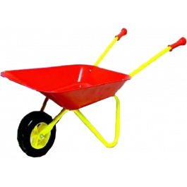 KinderKruiwagen Metaal Rood/ geel