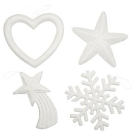 4 stuks Kerstornamenten om te versieren