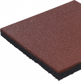 Rubbertegel rood 50x50x2,4 cm