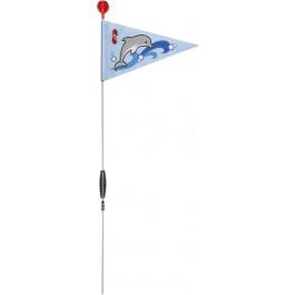 PUKY veiligheidsvlag SW3 voor (loop) fietsen Blauw