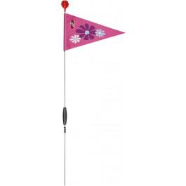 PUKY veiligheidsvlag SW3 voor fietsen en steppen Roze