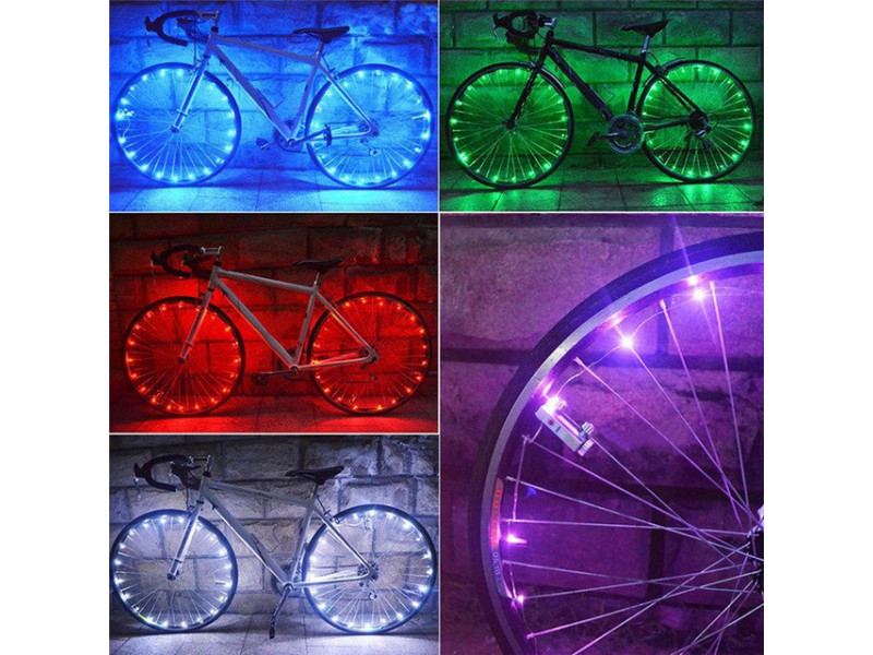 ikzilight fietswielverlichting 2x20 led rood