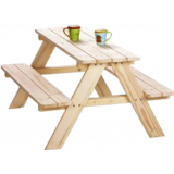 Pinolino Kinderpicknicktafel Nicki voor 4 Naturel