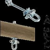 Schommelhaak Model D+ 14 cm met Harpsluiting