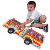 Melissa & Doug - Vloerpuzzel Brandweerauto (24 stukjes, 1,20 m lang)