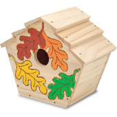 Melissa & Doug - Knutselset Bouw je eigen houten vogelhuisje