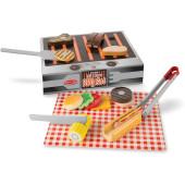 Melissa & Doug - Grill & Serve BBQ met Houten Snij Groente
