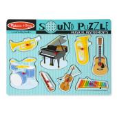 Melissa & Doug - Puzzel Met Geluiden - Muziekinstrumenten