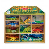 Melissa & Doug  Speelfigurenset in Kabinet (12 dlg) - Dino's