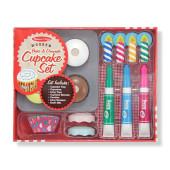 Melissa & Doug - Houten Cupcake Set