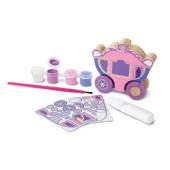 Versier je eigen prinsessenwagen met deze leuke knutselset van het merk Melissa & Doug. Inclusief potjes verf, kwasten en stickers.