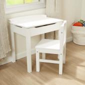 Melissa & Doug - Wooden Lift-Top Desk & Chair - White
