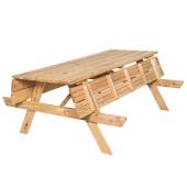 Outdoor Life Douglas - Houten 6 pers. Picknicktafel Met Opklapbare Banken (190x152x75cm)