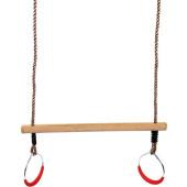 Trapeze met metalen Turnringen