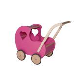 Van Dijk Toys - Houten Poppenwagen Vintage Roze