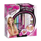 Glitter Tatoeages en Haarkrijt