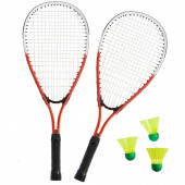 SportX Power Badminton Set in tas Rood