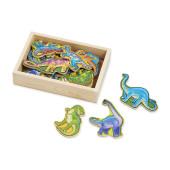 Melissa & Doug - 20 Houten Dinosaurus Magneetjes