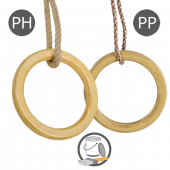 KBT - Houten turnringen met PH touw