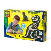 SES Gips Gieten en schilderen - T-Rex met skelet