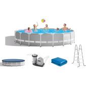 Intex Prism Frame Premium Pool Set 549x122cm incl. pomp, trap en afdekzeil