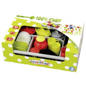 Ecoiffier 100% Chef - Servies in Afdruiprek 45dln
