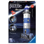 Ravensburger 3D puzzel - Vuurtoren Night Edition (216)