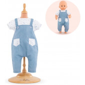 Corolle - Babypop Mijn Eerste Poppenkleding BB12 T- Shirt & Overall - 30 cm