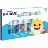 Baby Shark Kleurset Met Stempels 40 Dlg.