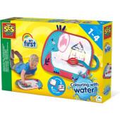 SES - Kleuren met water - Kleurmat olifant
