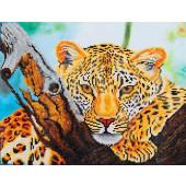 Diamond Dotz ® painting Art Leopard Look