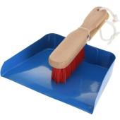 Stalen speelgoed stoffer en blik voor kinderen - blauw