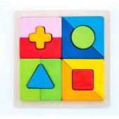 Houten sorteerbord geometrische vormen