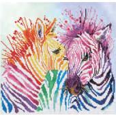 Diamond Dotz ® painting - Rainbow Zebras
