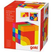 Goki - Houten Blok- en legpuzzel - Kleur