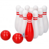 Indoor Bowling Hout (Rood-Wit)