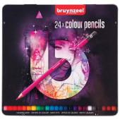 Bruynzeel-Royal Talens blik 24 kleurpotloden - paars