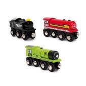 Locomotief Set van 3 voor houten treinbaan
