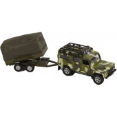 Metal - Die-cast Landrover military defender- 26cm