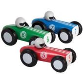 Jouéco Houten raceauto set van 3