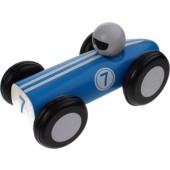 Jouéco Houten Raceauto 16 Cm Blauw