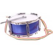 Trommel Blauw met drumsticks